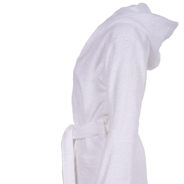 basic peignoir de bain capuche blanc hierba la redoute. Black Bedroom Furniture Sets. Home Design Ideas
