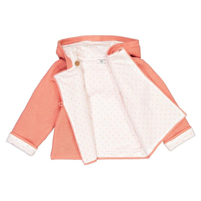 Casaco em tricot para recém nascido, 0 mês 2 anos rosa La