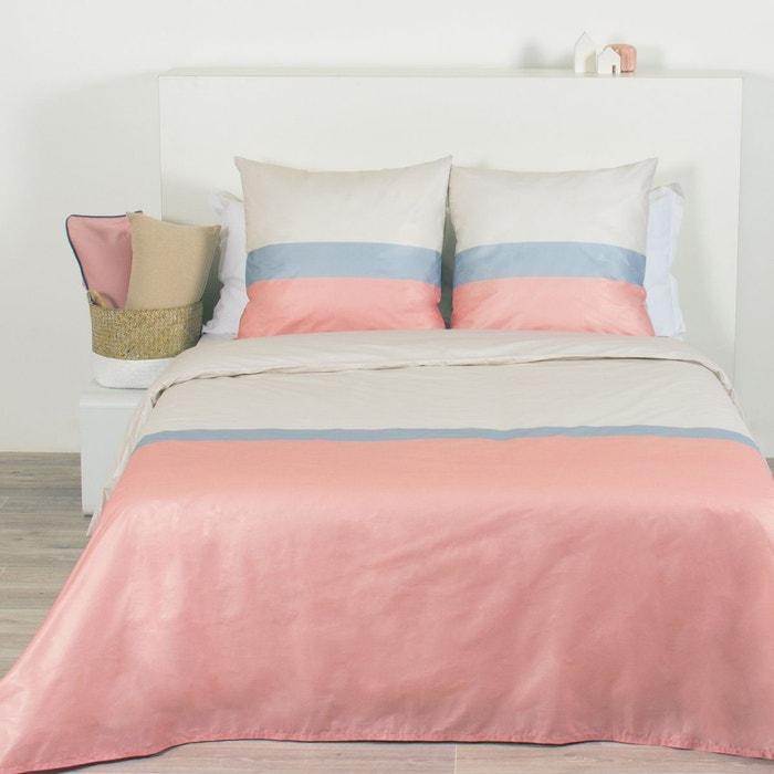 parure de couette microfibre 2 personnes leane rose beige. Black Bedroom Furniture Sets. Home Design Ideas