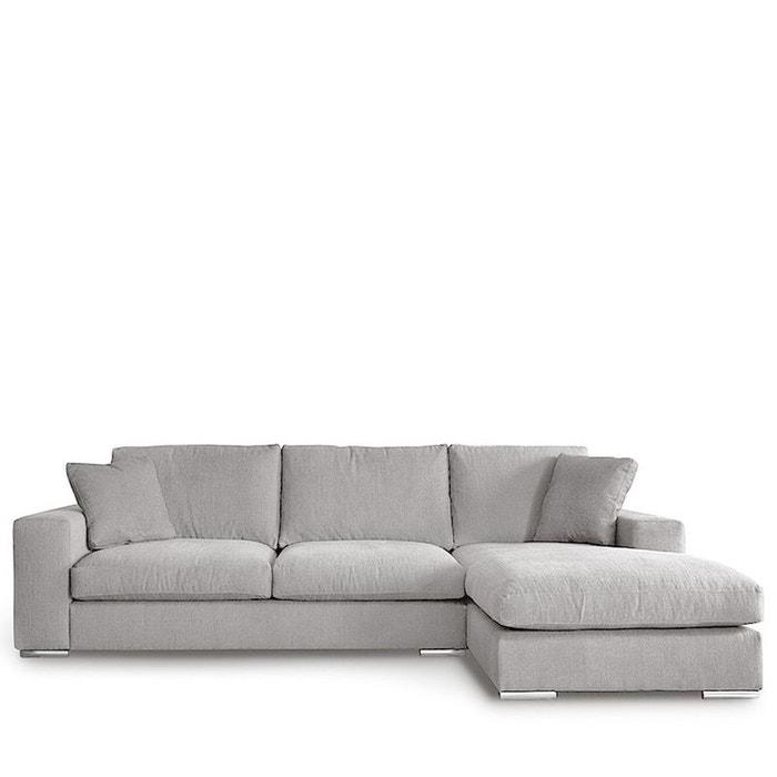canap d 39 angle droit tissu pescara drawer la redoute. Black Bedroom Furniture Sets. Home Design Ideas