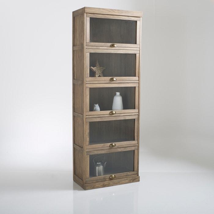 meuble vitrine 5 portes lunja la redoute interieurs bois. Black Bedroom Furniture Sets. Home Design Ideas