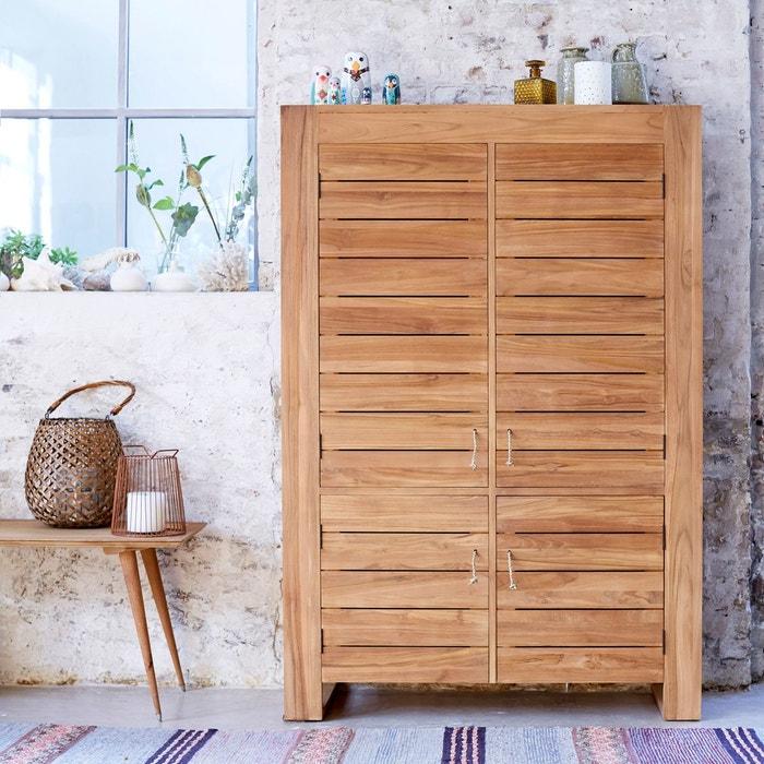 bahut en bois de teck 160 minimalys tikamoon la redoute. Black Bedroom Furniture Sets. Home Design Ideas