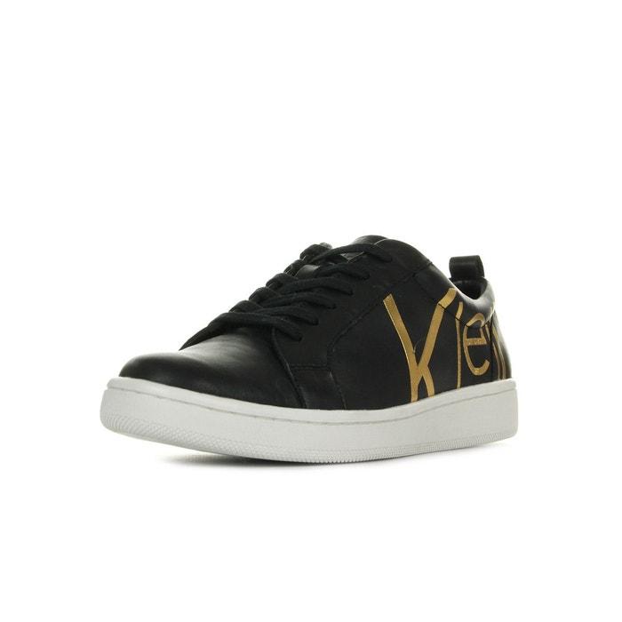 Chaussures Baskets Calvin Klein femme Danya Noir taille Noire Cuir Lacets