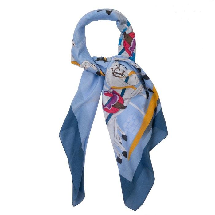 Foulard coton soie grand carré bleu manege bleu Ines De Parcevaux | La Redoute Naviguer En Ligne Le Plus Grand Fournisseur De Dédouanement Vente De L'arrivée Pas Cher FTsIWQ