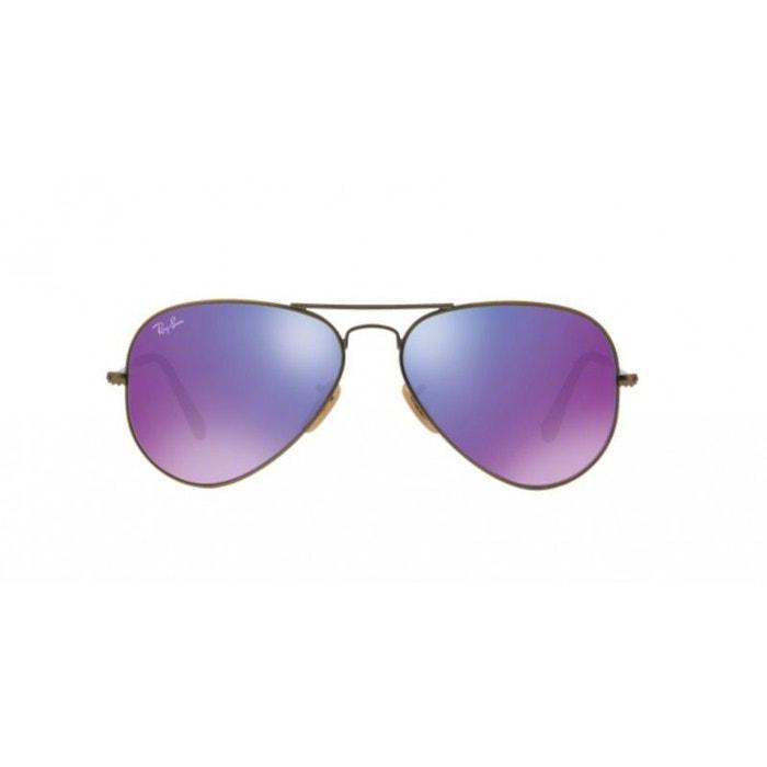 Lunettes de soleil mixte ray ban gris rb 3025 aviator 167 1m 58 14 violet  Ray-Ban   La Redoute eb1bf8759c8d
