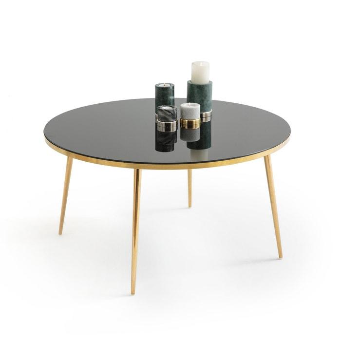 table basse ronde luxore la redoute interieurs noir la redoute. Black Bedroom Furniture Sets. Home Design Ideas