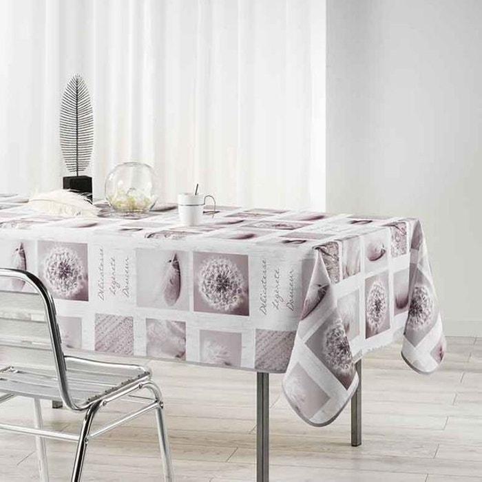 nappe rectangulaire esprit naturel blanc home maison la redoute. Black Bedroom Furniture Sets. Home Design Ideas