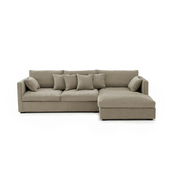 canap d angle n o kinkajou velours stonewashed am pm la redoute. Black Bedroom Furniture Sets. Home Design Ideas