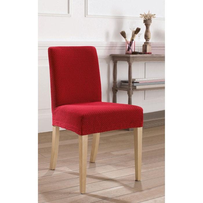 Housse extensible pour chaise gaufr e ahmis la redoute - Housse canape extensible la redoute ...