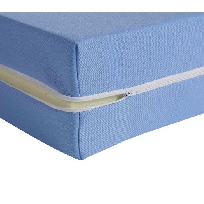 housse r nove matelas coloris bleu 15 cm bleu terre de nuit la redoute. Black Bedroom Furniture Sets. Home Design Ideas