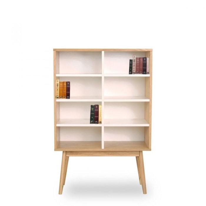 Biblioth que design scandinave bois 8 niches skoll drawer la redoute - La redoute bibliotheque ...
