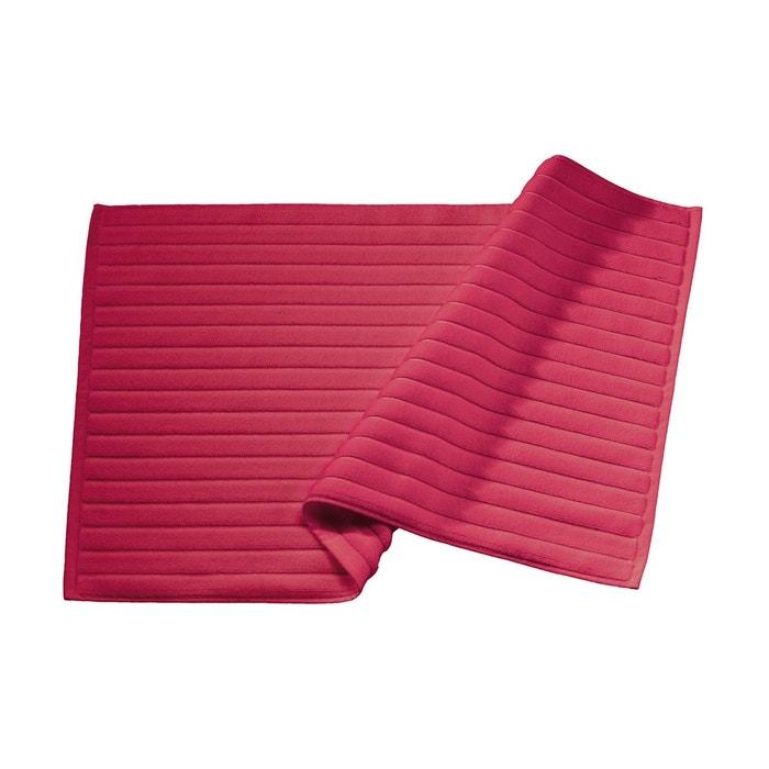 tapis de bain rouge basque coton peign 1000 g m rouge basque blanc cerise la redoute. Black Bedroom Furniture Sets. Home Design Ideas