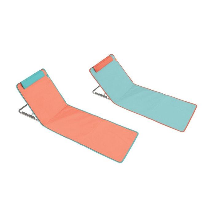lot de 2 matelas clic clac des plages bleu et orange multicolore oviala la redoute. Black Bedroom Furniture Sets. Home Design Ideas