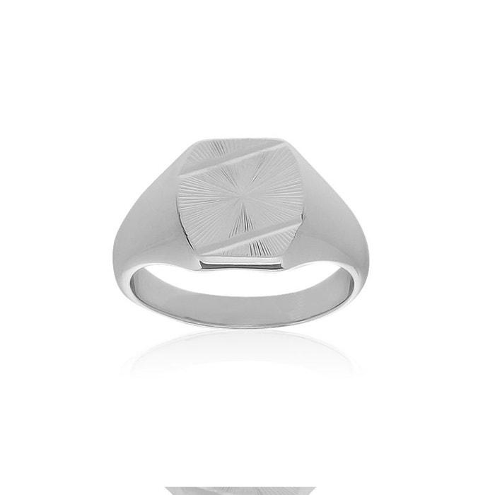 Chevalière argent 925/1000 blanc Cleor | La Redoute Meilleurs Prix En Ligne 5bBu8yFVY