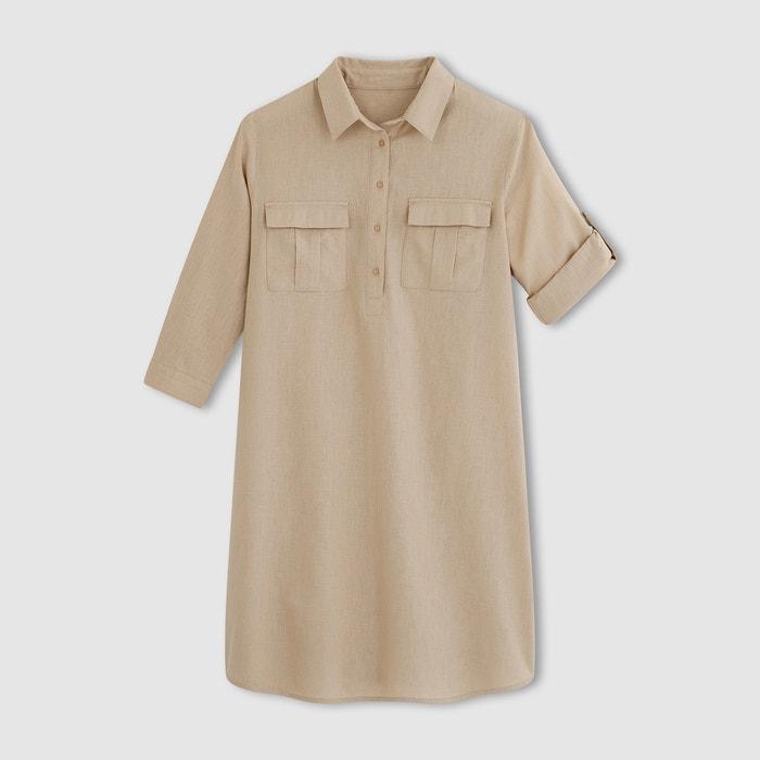 afbeelding Safari-jurk, linnen/katoen La Redoute Collections
