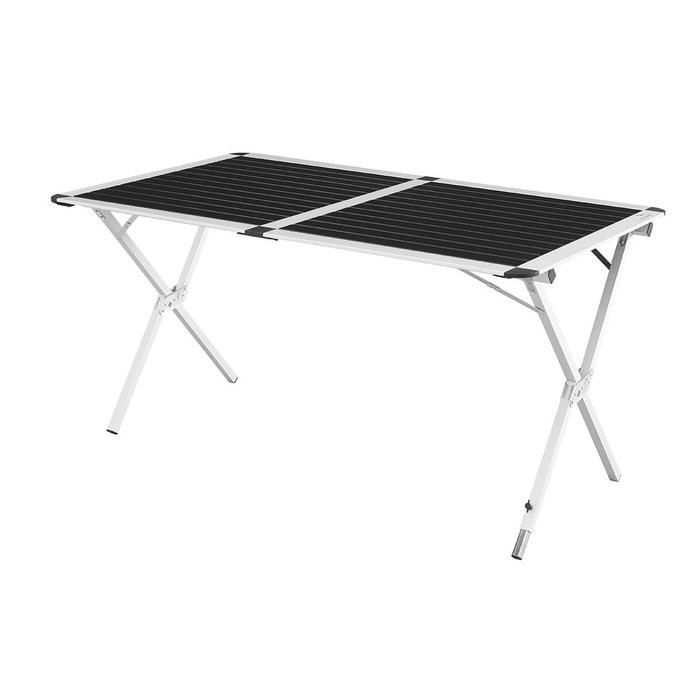 Rennes XL - Table de camping - XL bleu, gris/noir
