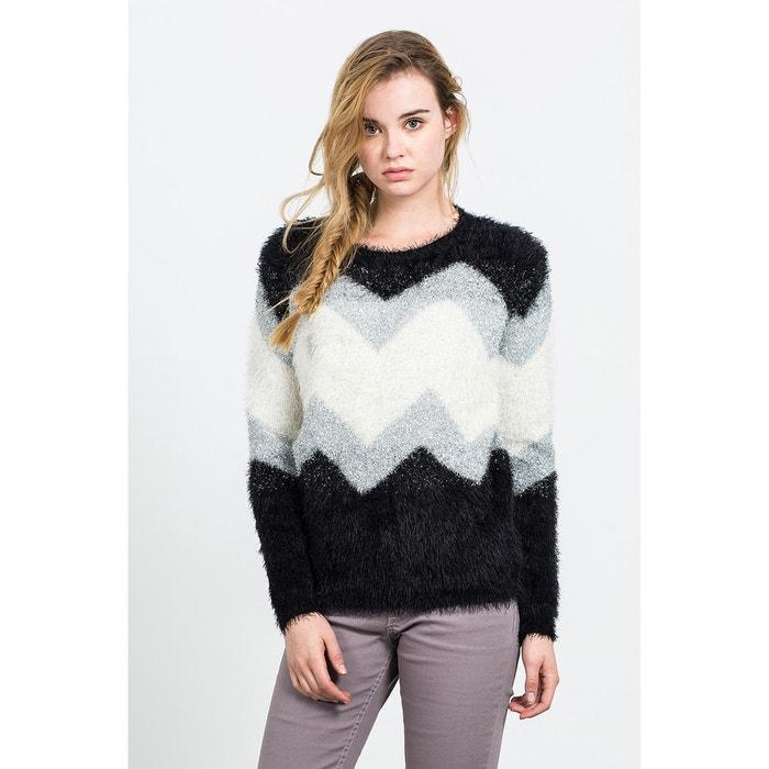 Naikarii chunky-knit geometric pattern jumper, black, Compania Fantastica L...