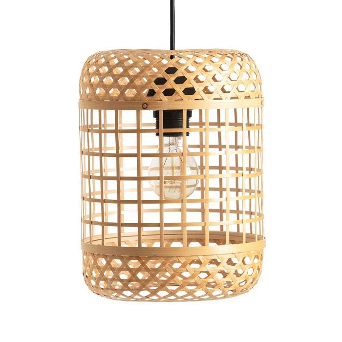 suspension bambou naturel h28 cm cordo naturel la redoute interieurs la redoute. Black Bedroom Furniture Sets. Home Design Ideas