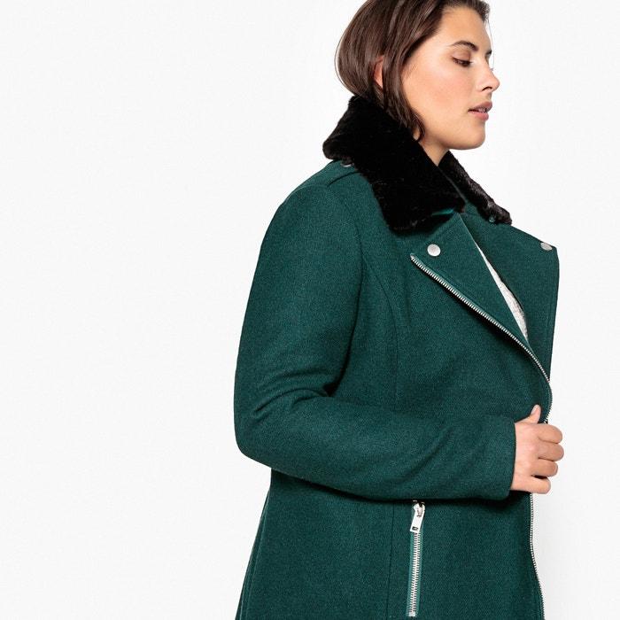 2e5c03df253 Пальто короткое с застежкой на молнию из шерстяного драпа Castaluna ...
