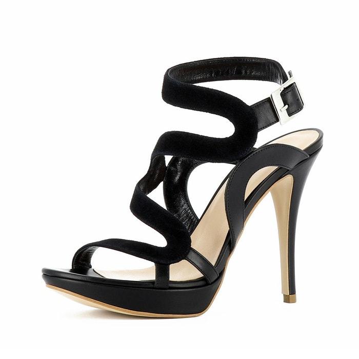 Vente À Bas Coût De Haute Qualité En Ligne Sandales femme noir Evita yZx05BS