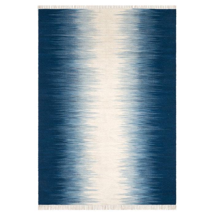 Tapis tissé à plat motif kilim en laine, Lilus AM.PM