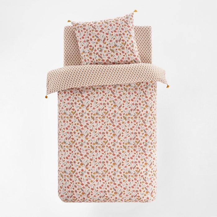 housse de couette enfant coton bertille la redoute interieurs imprim rose la redoute. Black Bedroom Furniture Sets. Home Design Ideas