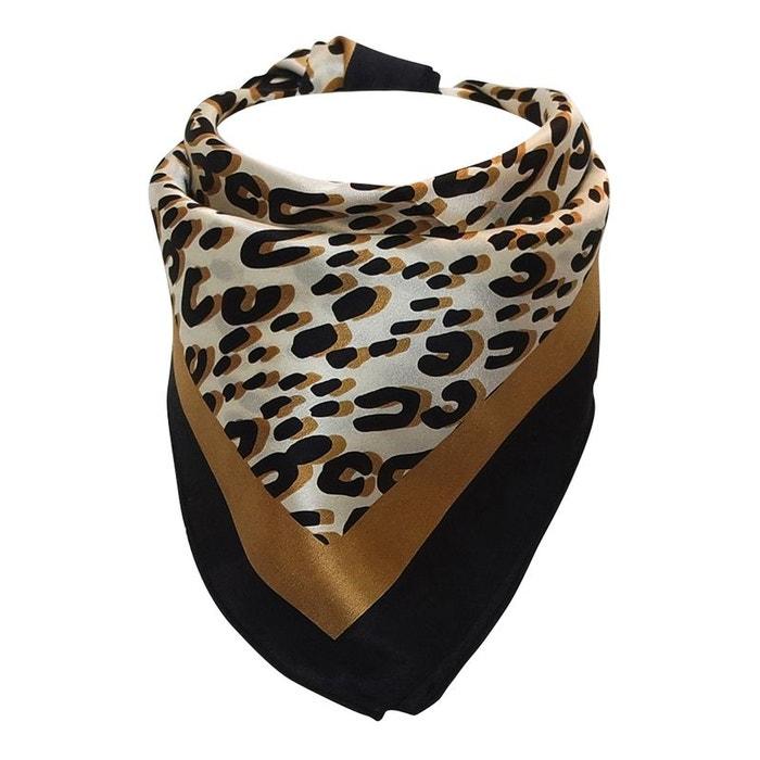 Foulard hôtesse soie léopard noir Chapeau-Tendance   La Redoute e58b58562f0