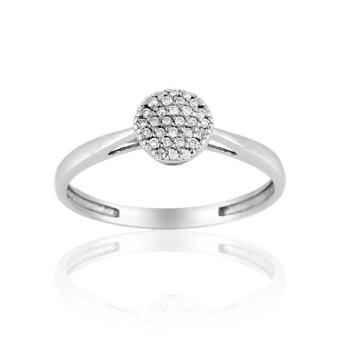 Solitaire en or 375/1000 blanc et diamant blanc blanc Cleor | La Redoute Acheter Pas Cher Browse zNJSpovRm
