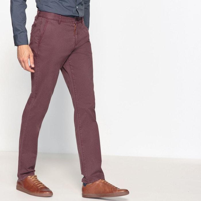 390cbcd568485 Pantalon basique chino coupe droite, Adrien