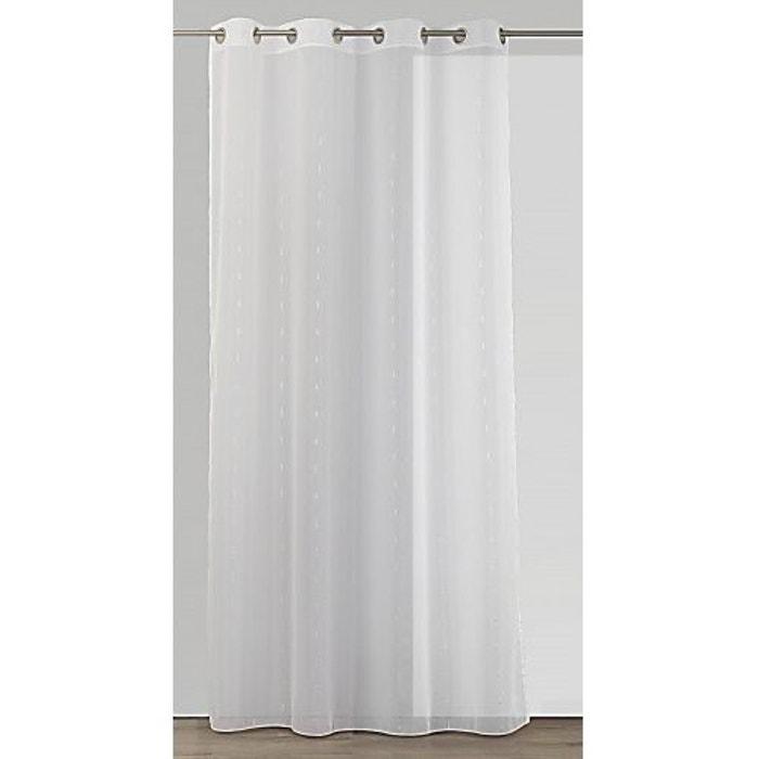 voilage blanc en fil textile fantaisie blanc home maison la redoute. Black Bedroom Furniture Sets. Home Design Ideas
