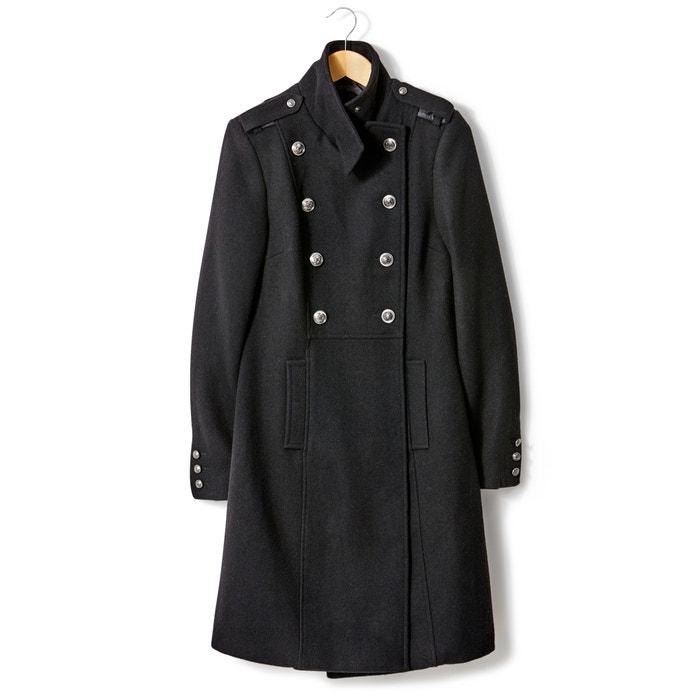 Image Cappotto stile militare 45% lana R essentiel