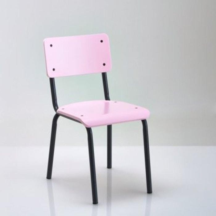 chaise style colier vintage buton la redoute interieurs rose p le la redoute. Black Bedroom Furniture Sets. Home Design Ideas