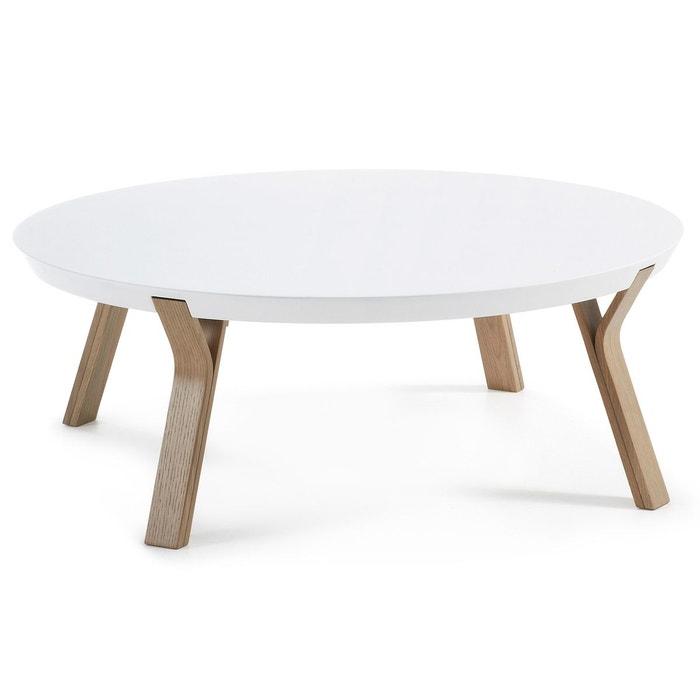 Table basse dilos chene et blanc blanc naturel kavehome for La redoute table basse