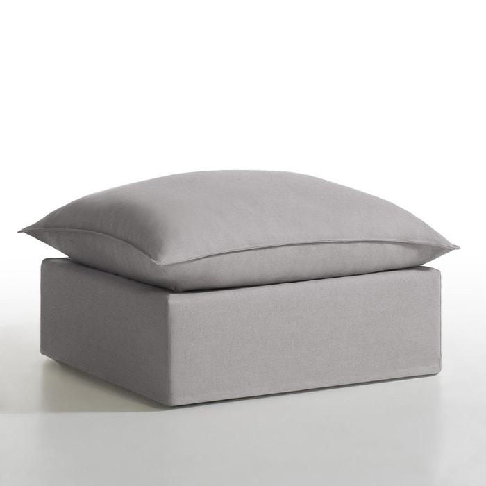 pouf d houssable lin coton n lia le fait main. Black Bedroom Furniture Sets. Home Design Ideas