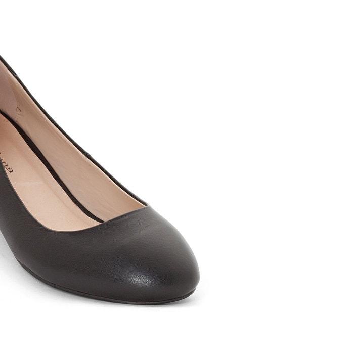 Ballerine en cuir noir Castaluna