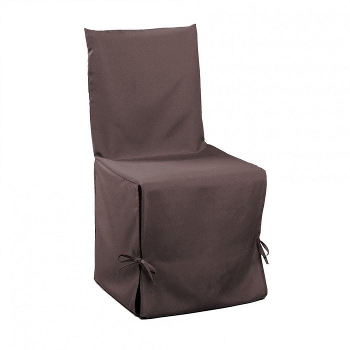 Housse chaise marron marron Douceur D\'intérieur | La Redoute