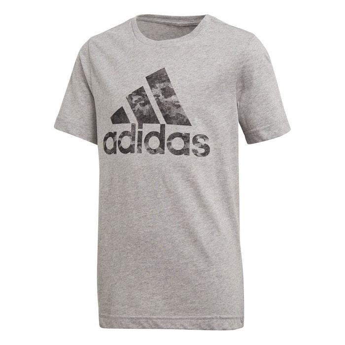 T-shirt adidas badge of sport gris Adidas   La Redoute f2659f1c41d8