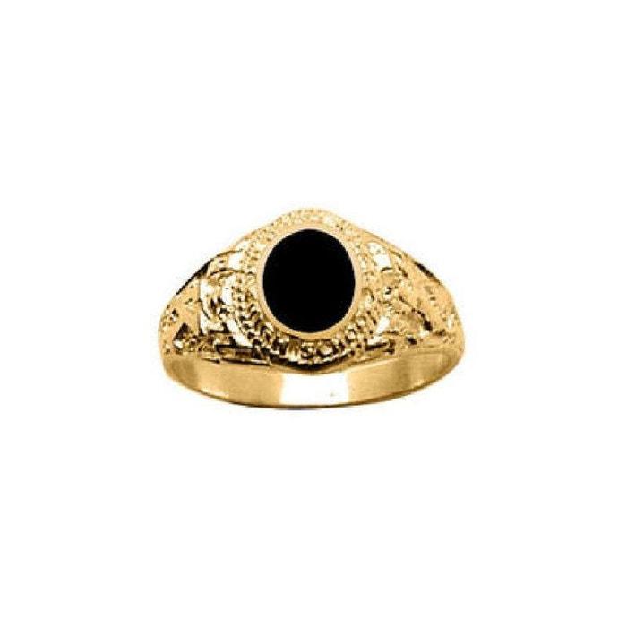 Chevalière bague anneau ovale onyx vermeil (or 750 sur argent 925) couleur unique So Chic Bijoux | La Redoute Prise Avec Mastercard La Qualité De Sortie De La Livraison Gratuite BHYvj4xF