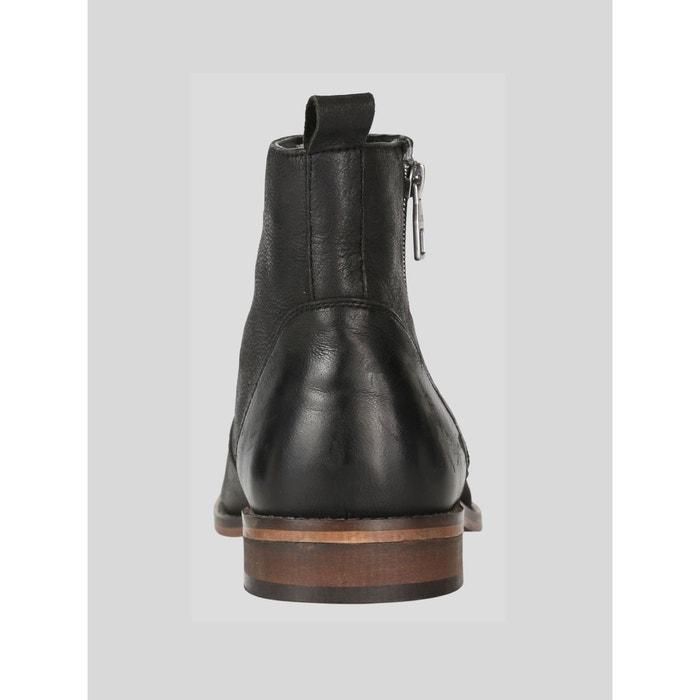 Warburton bottes chelsea en cuir noir Luke 1977