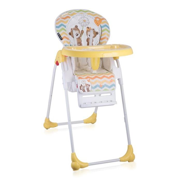 chaise haute r glable volutive oliver jaune lorelli la redoute. Black Bedroom Furniture Sets. Home Design Ideas