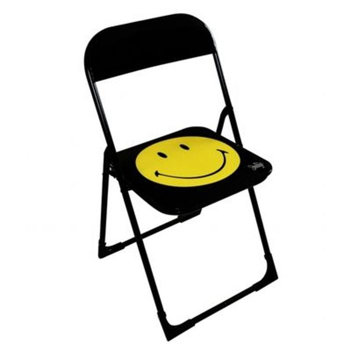 chaise pliante lucky smile noir et jaune tropico la redoute. Black Bedroom Furniture Sets. Home Design Ideas