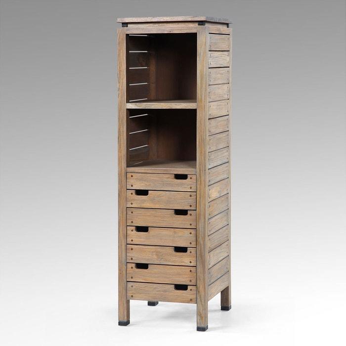colonne 7 tiroirs madura couleur unique kha home design la redoute. Black Bedroom Furniture Sets. Home Design Ideas