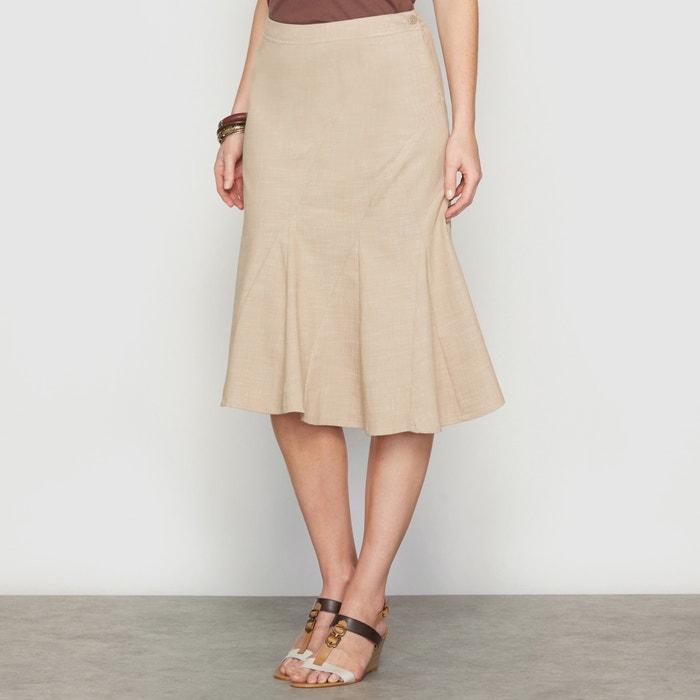Image Asymmetric Stretch Denim Skirt ANNE WEYBURN