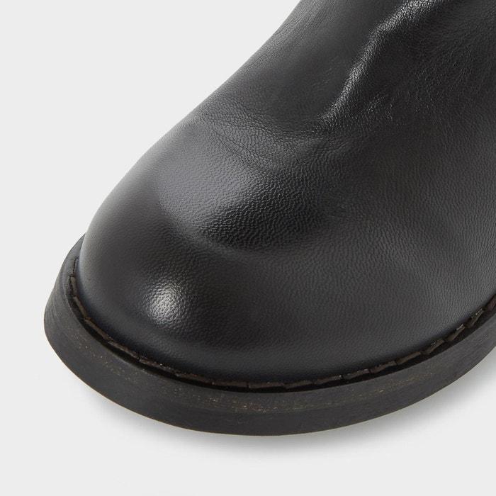 Bottes mi-mollet à doublure chaude - roderik noir cuir Dune London
