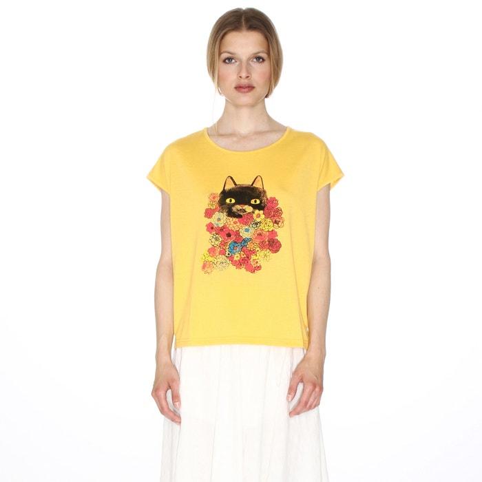 afbeelding T-shirt met korte mouwen en katmotief PEPALOVES