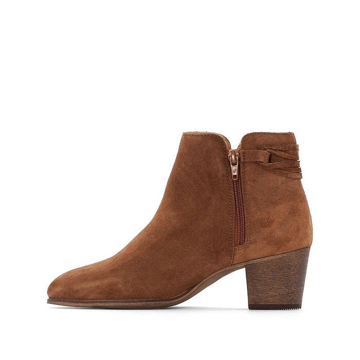 Boots cuir à lacet - R essentiel - NoirLa Redoute aSSi8Gl