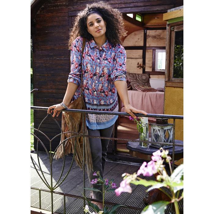 Long-Sleeved Floral Print Tunic  ULLA POPKEN image 0