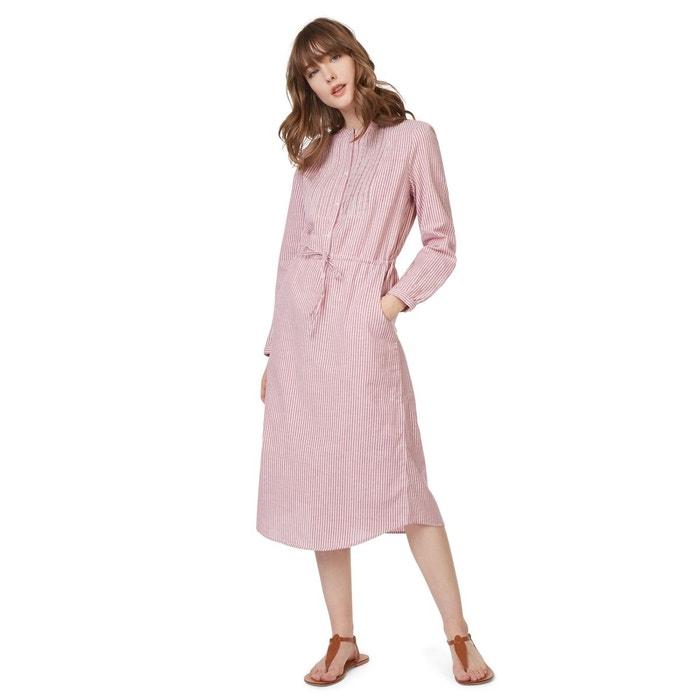 robe chemise en coton ray rouge monoprix la redoute. Black Bedroom Furniture Sets. Home Design Ideas
