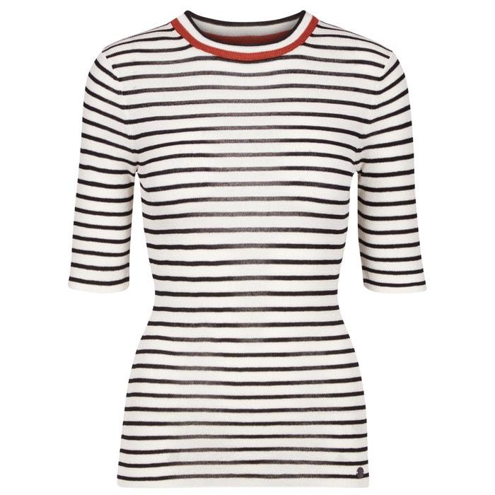 afbeelding Gestreept T-shirt met korte mouwen, ronde hals NUMPH