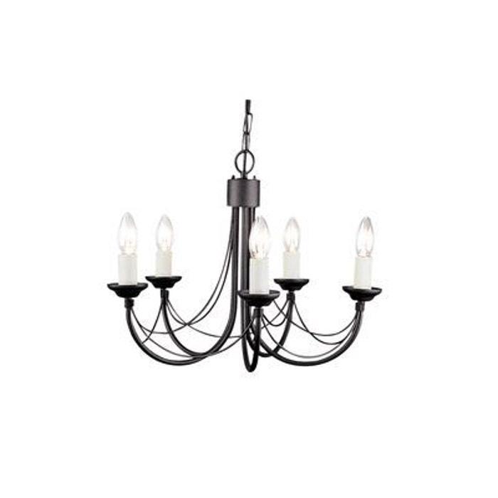 lustre carisbrooke 5x60w noir elstead lighting cb5blk. Black Bedroom Furniture Sets. Home Design Ideas